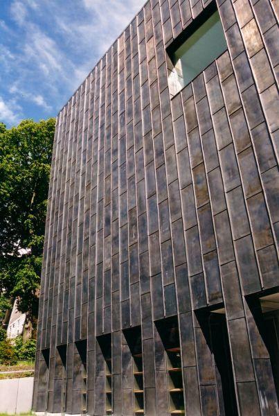 Bergbauarchiv Clausthal Bade Dacher Moderne Architektur Holz Blei Fassade Steildach Flachdach Sanierung Denkmalschutz Edelstahl Kupfer
